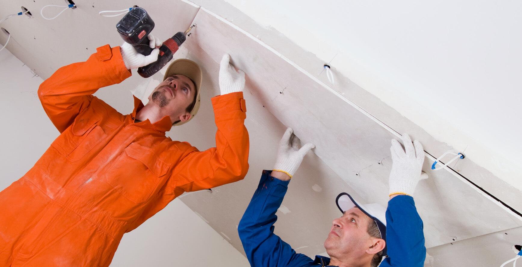 Монтаж натяжные потолки
